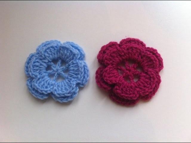 Fleur crochet facile 1. flor facil a crochet