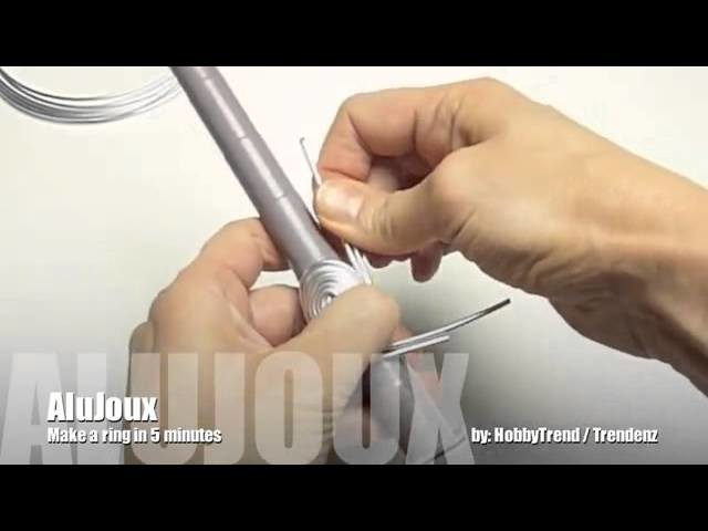 Bricoler une bague en fil aluminium en 5 minutes