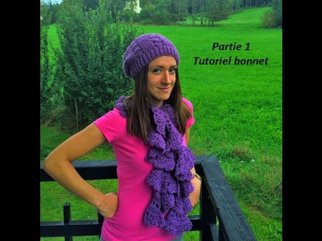 Ensemble bonnet echarpe femme au crochet facile. beanies and scarf women very easy crochet