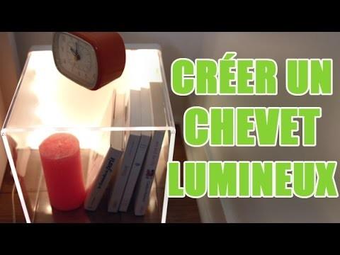Fabriquer une table de chevet design transparente - DIY déco avec youMAKEfashion