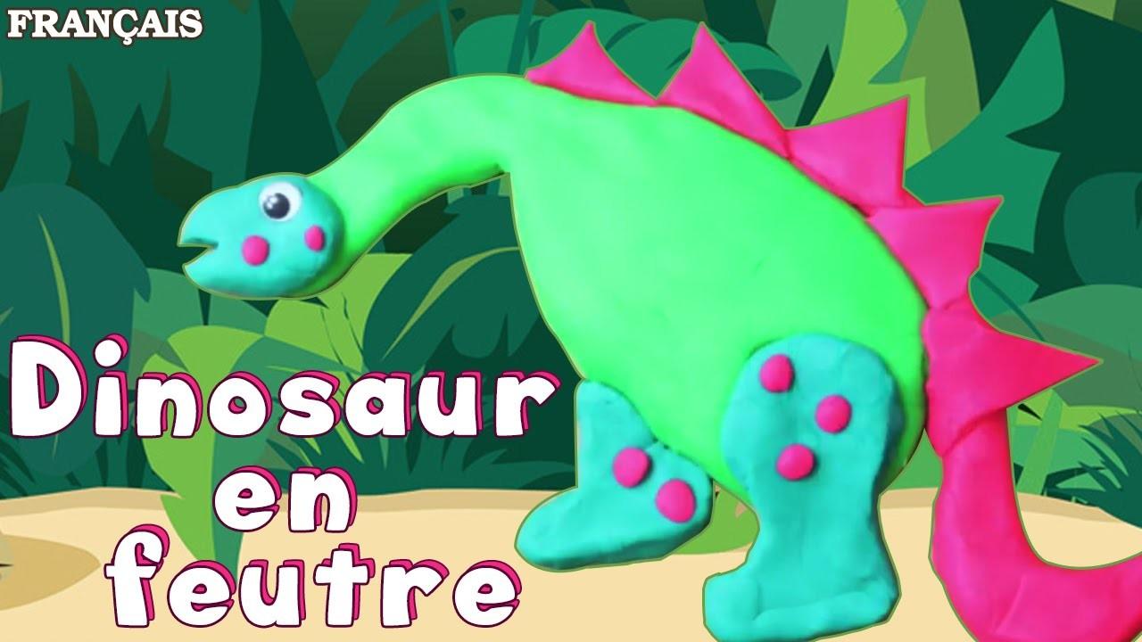 Francais Facile: How To Make a Play Doh Dinosaur in French   Dinosaure en Pâte à Modeler