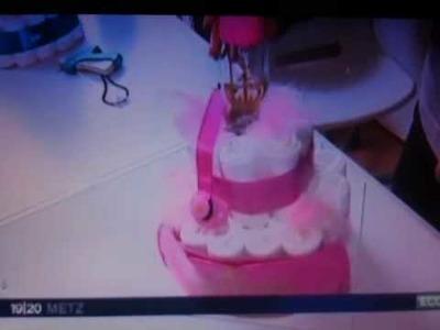 Le gâteau de couches de Coco et poupette