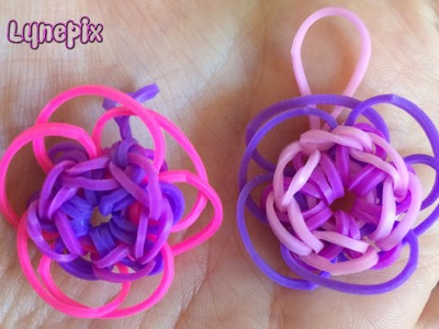 Loom #6 Fleurs 2 Charm (en français)(Rainbow Craz Loom)