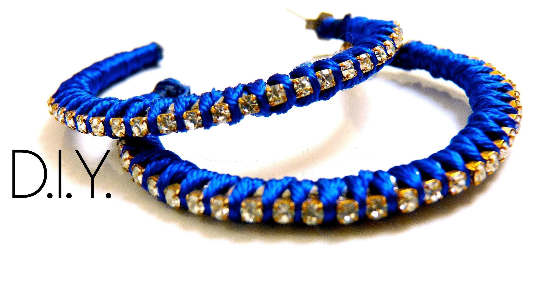 Tutoriel - DIY : Des Boucles d'oreilles strass - Recycler un bijoux - Rhinestone earrings