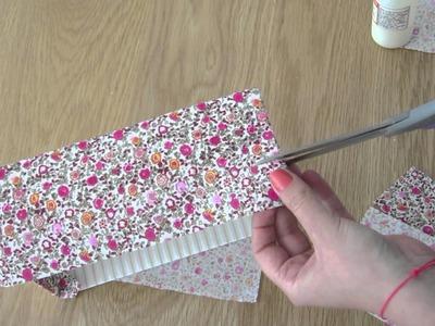 Customisez une boîte avec du tissu