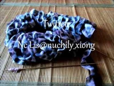 Tutoriel comment tricoter une écharpe en tissu