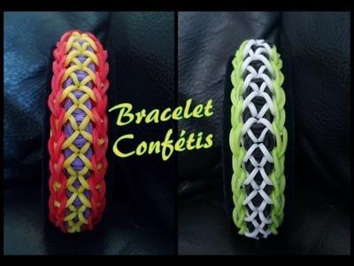 Bracelet Conféttis Rainbow Loom® Tutoriel Français (Niveau débutant)