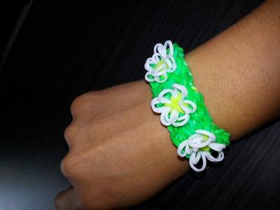 Bracelet en Loom Petites Fleurs d'été Tutoriel en Français