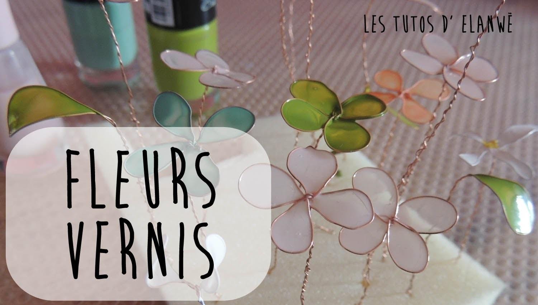 DIY Fleurs vernis (Nail Polish flowers)