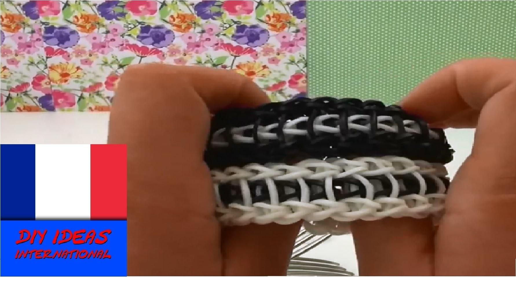DIY Rainbow Loom Bracelet Echelle sur Fourchettes - Tutoriel en français