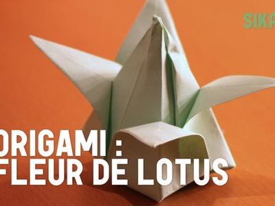 Origami : Fleur de lotus gonflable en papier - HD