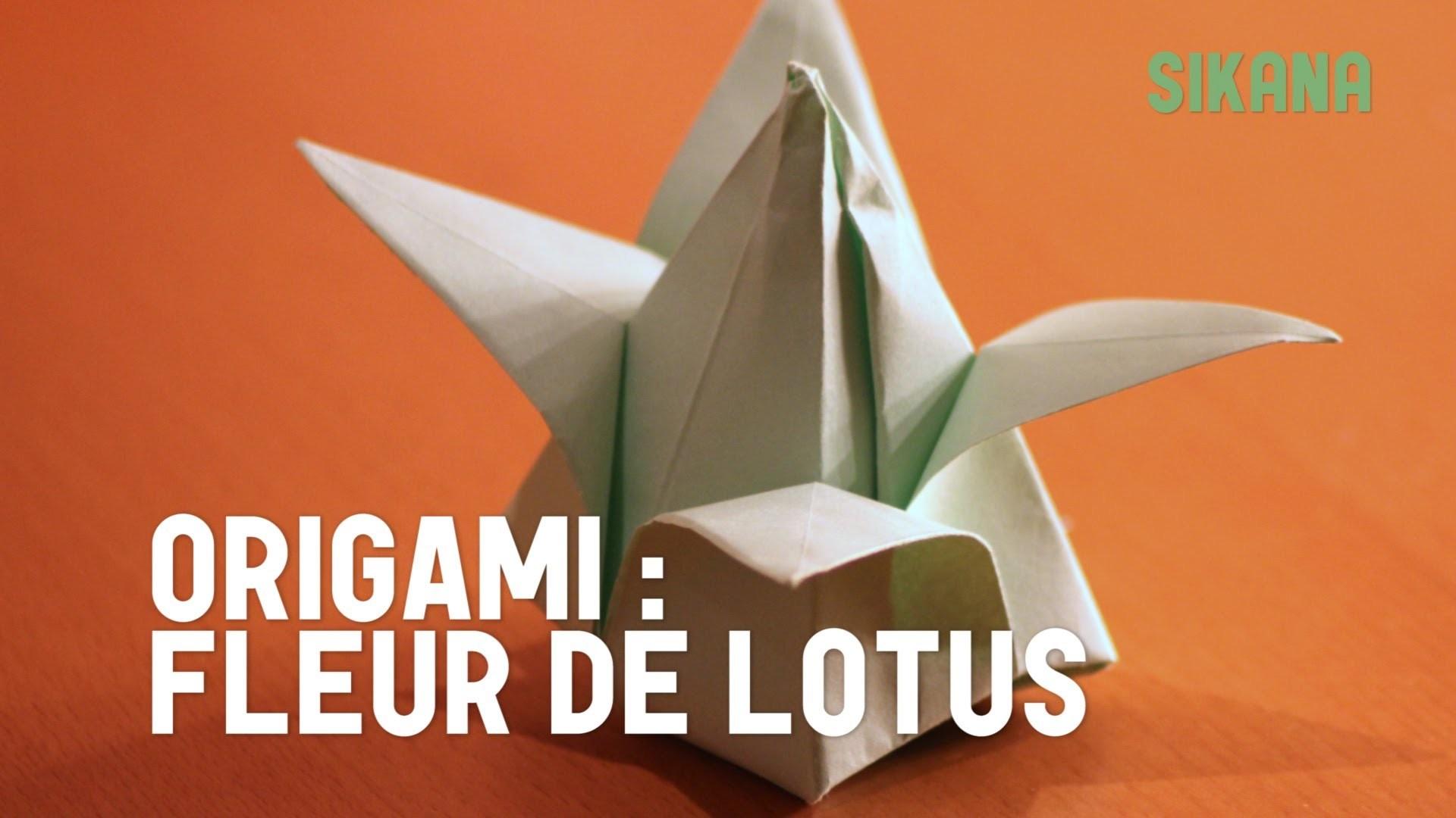 origami fleur de lotus gonflable en papier hd. Black Bedroom Furniture Sets. Home Design Ideas