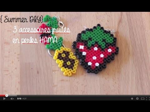 { Summer DIY} - 3 bijoux en perles hama !