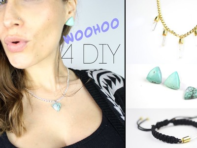 4 DIY - CADEAU NOEL : BIJOUX EN PIERRES SEMI-PRECIEUSES FAIT MAINS - Gemstone Jewelry (english subs)