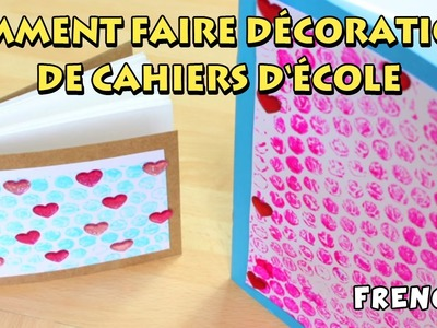 Comment faire décorations de cahiers d'école | How to Decorate your Notebook