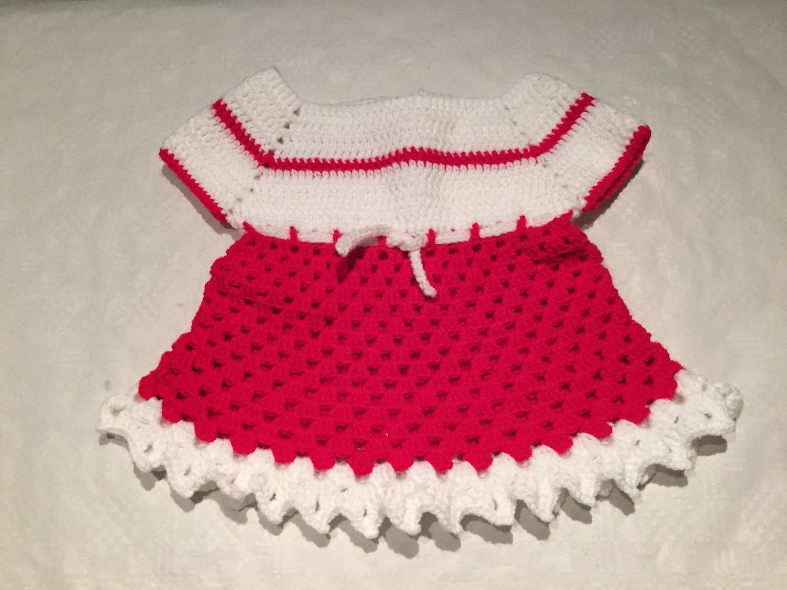 Tuto robe bebe au crochet 2