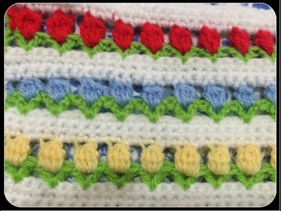 Crochet Tuto : Champ de fleurs !