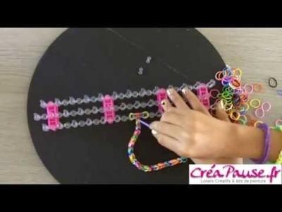 Tresser un bracelet élastique carré