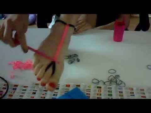 Bracelet rainbow loom cheville ♥