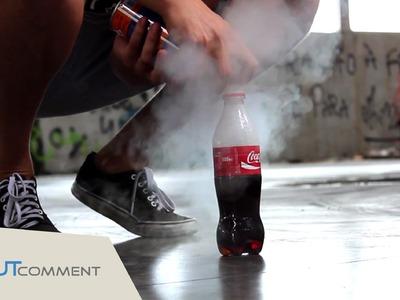 Expérience incroyable à faire à la maison : la bouteille de coca cola fusée !