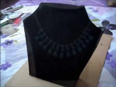 DIY Necklace Display Stand | Teslime Moda