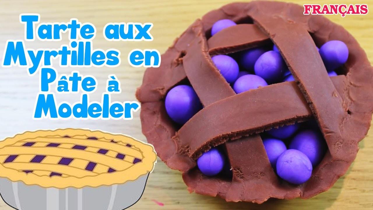 Français Facile: How To Play Doh Blueberry Pie | Tarte aux Myrtilles en Pâte à Modeler