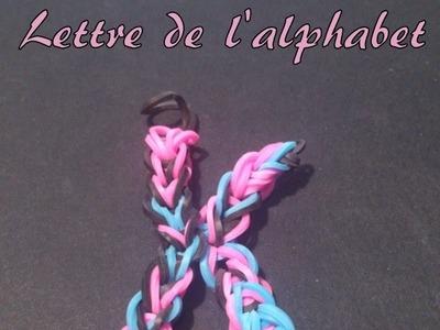 Lettre K Rainbow loom® Tutoriel Français (Niveau Débutant)