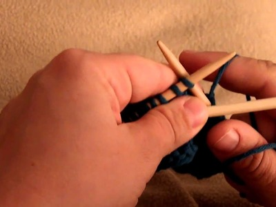 Apprendre à tricoter : torsade, 4 mailles croisées vers la gauche