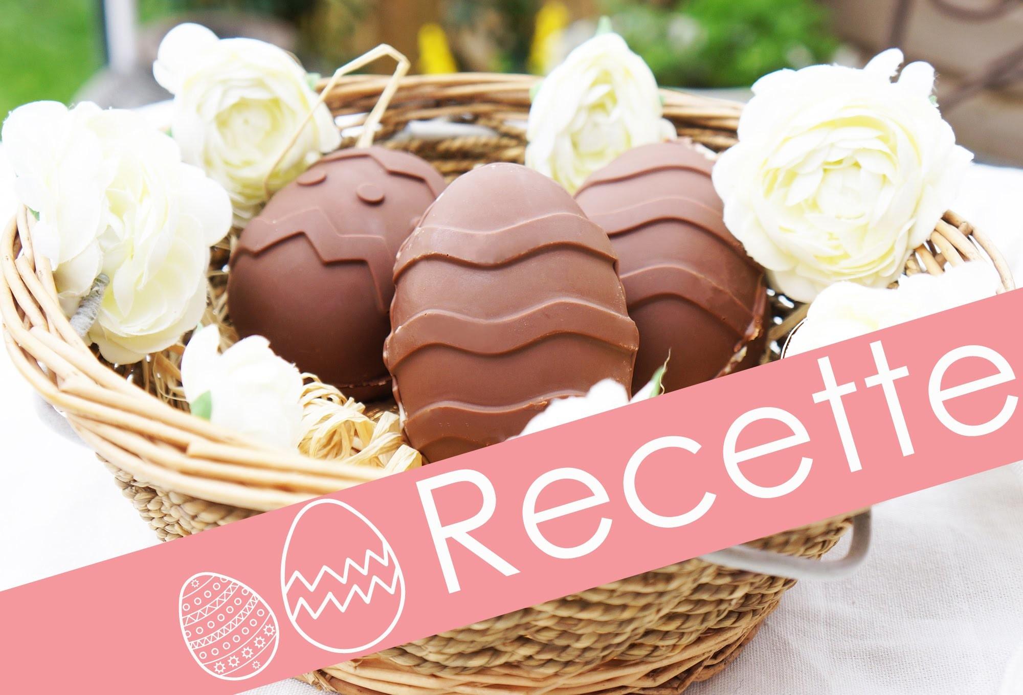 Oeufs de Pâques fait maison. RECETTE FACILE. Easter Egg Homemade