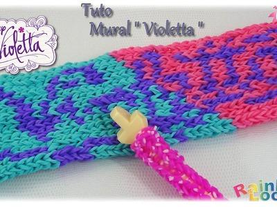 { Tuto } Mural Violetta en élastique Rainbow Loom