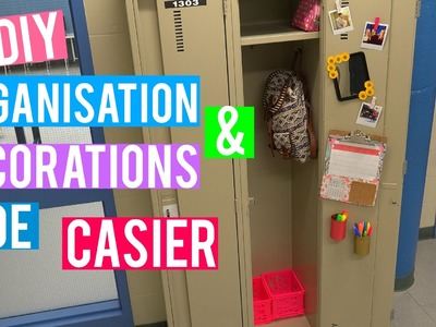 DIY organisation + décorations de casier ! | BACK 2 SCHOOL 2015