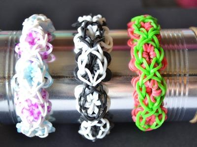 Bracelet Rainbow Loom Fleurs