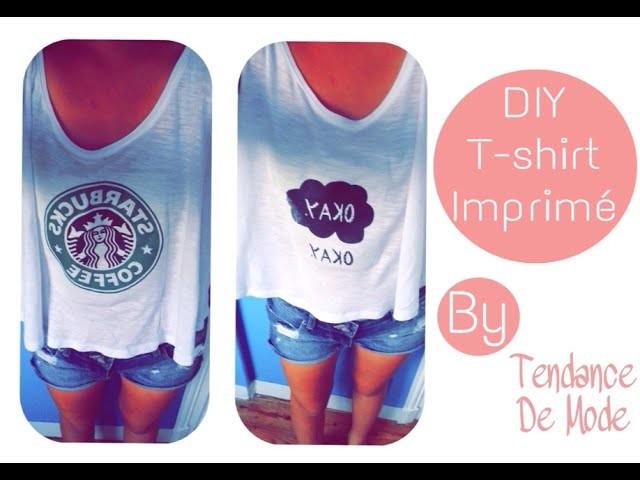 DIY | T-shirt imprimé Starbucks, Okay ? Okay.