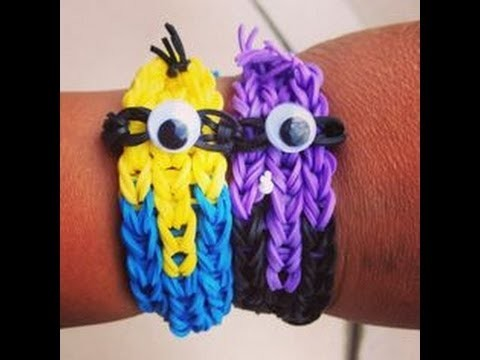 Rainbow Loom Nederlands, Minion armband, Minion Bracelet