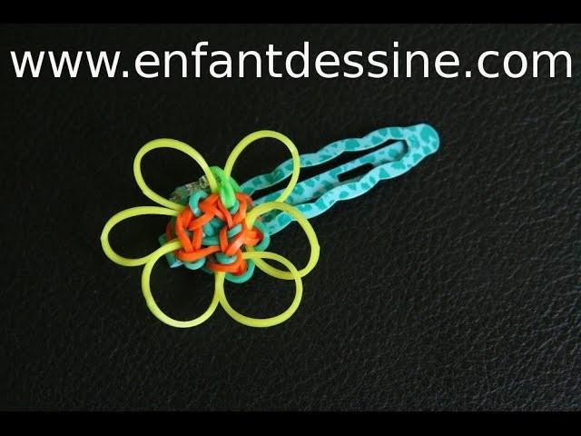 Fabriquer une fleur avec les elastiques rainbow loom