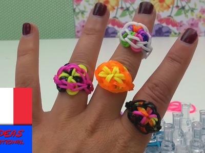 Bague en rainbow loom, idées DIY, création bijou avec élastiques