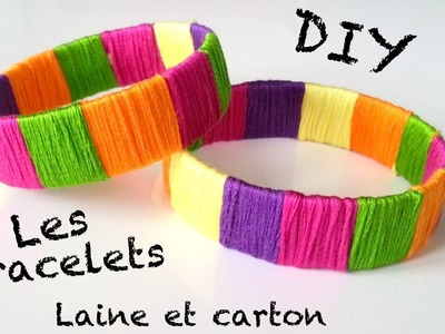 ♡ DIY Création bracelet avec du papier et de la laine
