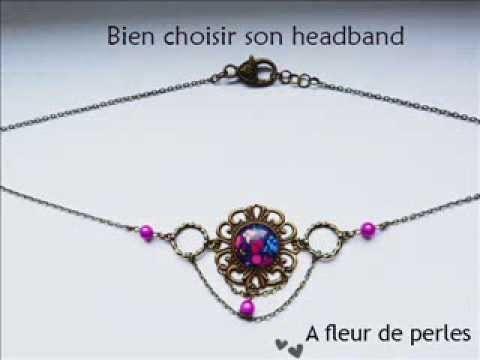 """Tutoriel: Comment se coiffer avec un Headband """"A fleur de perles"""""""