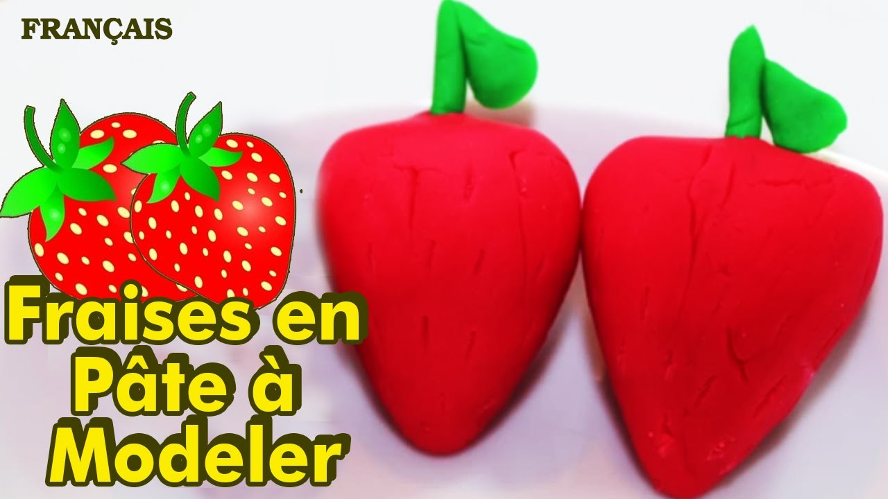 Francais Facile: How To Play Doh Strawberries in French | Fraises en Pâte à Modeler en Francais