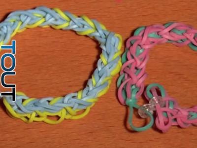 Tutoriel bracelet Rainbow loom Diamond (en français)
