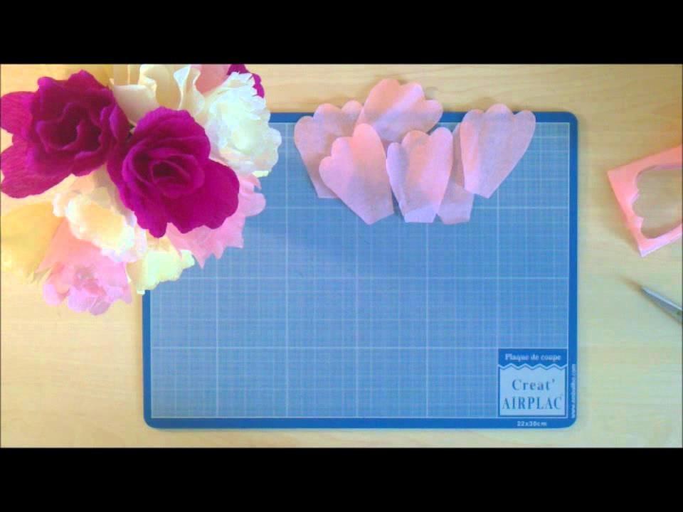 Comment réaliser une fleur simple en papier crépon