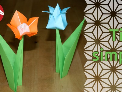 Origami - Tige simple pour fleur - Flower stem [Senbazuru]