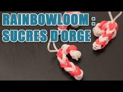 Tuto élastique rainbow loom - faire un sucre d'orge Candy Cane