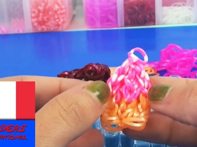 Tutoriel pour pendentif cupcake en crazy looms Rainbow loom à faire soi même français
