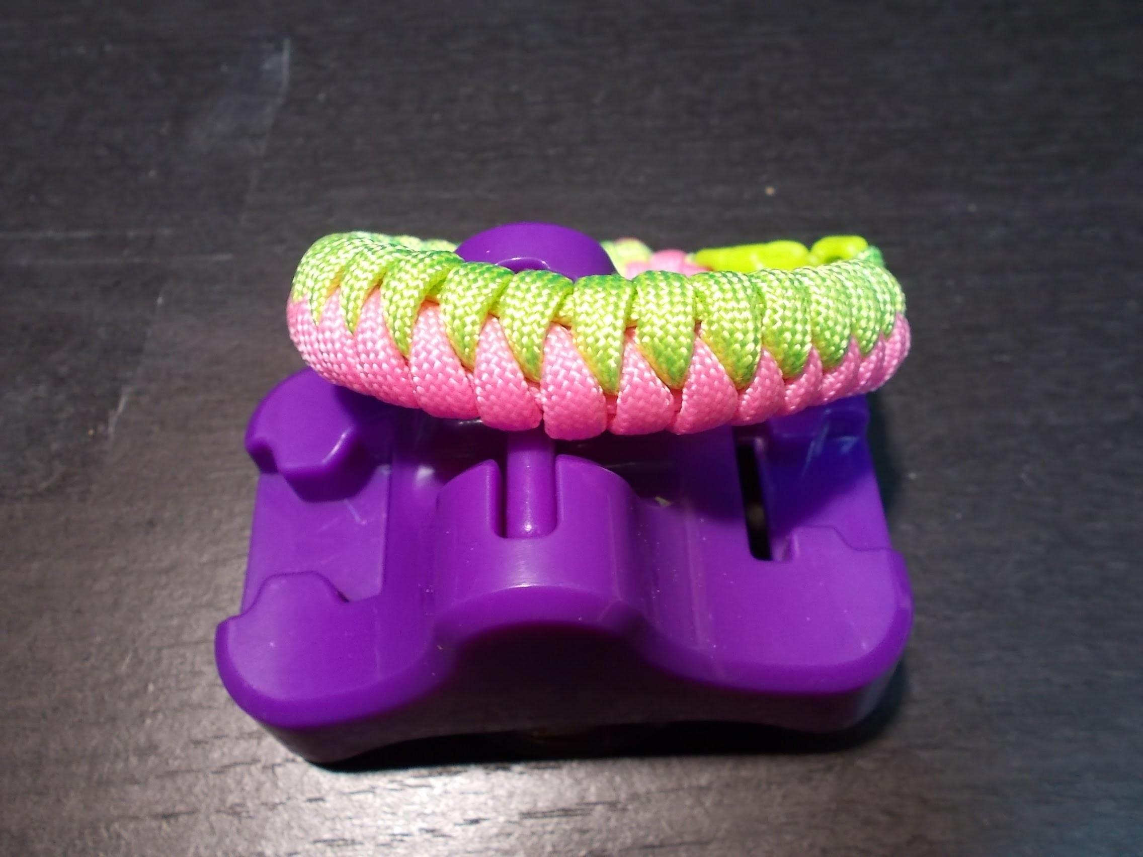 Weavy Loops bracelet tresse bicolor
