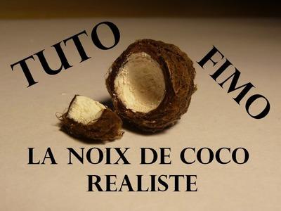 Tuto Fimo-Noix de coco réaliste. Coconut polymer clay tutorial ♥