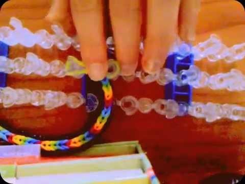 Bracelet brésilien en élastique ( avec métier à tisser )