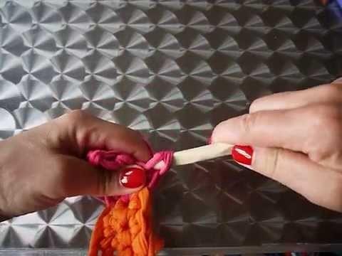 Comment changer de couleur au crochet - droitière. changing colors -  right hander