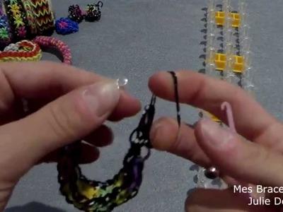Montage bracelet élastic fleur #4 Rainbow loom