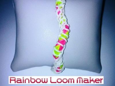 TUTO FR.EN ! Rainbow loom bracelet DNA spiral model. modèle ADN spirale